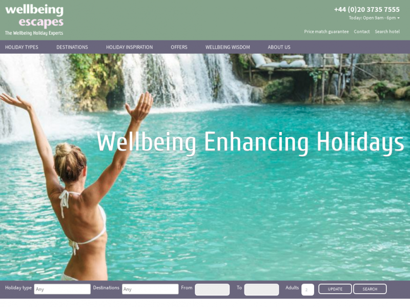 Afbeelding wellbeing escapes 2018